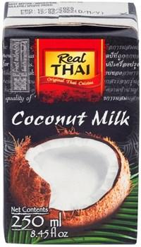 Молоко кокосовое REAL THAI в упаковке тетра-пак 250 мл - фото 11604