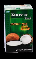 Кокосовое молоко Aroy-D, мякоть кокоса 70%, 500 мл - фото 5081