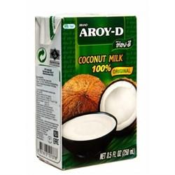 Кокосовое молоко Aroy-D, мякоть кокоса 70%, 250мл - фото 7393