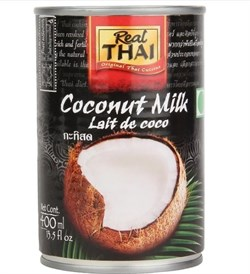Кокосовое молоко Real Thai, 400 мл - фото 8799