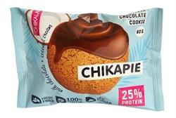 Протеиновое печенье глазированное Chikalab Кокос, 60г - фото 10079