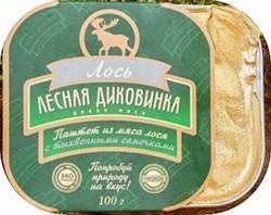 Паштет Лесная Диковинка из мяса лося с тыквенными семечками 100 г - фото 10507