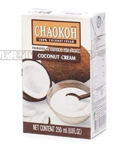 Густые кокосовые сливки CHAOKOH (20% жирности 80% мякоти кокоса), 250 мл - фото 5094
