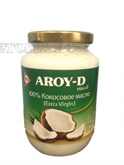 Кокосовое масло Aroy-D Extra virgin, 450 мл - фото 6352