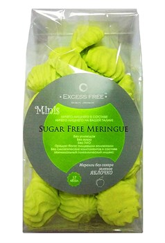 Меренги без сахара зеленое яблочко мини Excess Free, 40 г - фото 7530