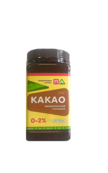 Какао Порошок Обезжиренный 0-2%, 125 г - фото 7717