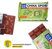 Протеиновый шоколад без сахара Chikalab Шоколад молочный с кешью, 100г
