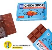 Протеиновый шоколад без сахара Chikalab Шоколад молочный с миндалем, 100г