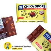 Протеиновый шоколад без сахара Chikalab Шоколад молочный с фундуком, 100г