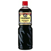 Соевый соус KIKKOMAN натурального брожения, 1л (без сахара)