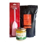 Набор для бронекофе №5: масло КОКОС & ГХИ 200мл, кофе зерно Ирландский крем 250г, капучинатор