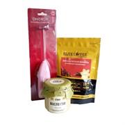 Набор для бронекофе №7: масло ГХИ Атман нежно-сладкое 150мл, кофе капсулы Французская ваниль, капучинатор