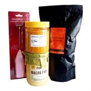 Набор для бронекофе №6: масло ГХИ Атман 450мл, куркума, кофе зерно Шоколадный апельсин 500г, капучинатор