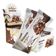 Батончик BootyBar Choco Шоколад с фундуком, 20 штук