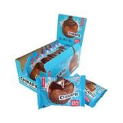Протеиновое печенье глазированное Chikalab Шоколад с начинкой, 9 штук