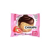 Протеиновое печенье Chikalab Клубника в шоколаде, 60 г