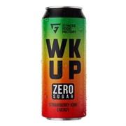 Тонизирующий безалкогольный напиток WK UP клубника - киви, 3 х 500мл