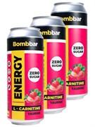 Энергетический напиток Bombbar Клубника - Земляника, 3 х 500мл