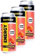 Энергетический напиток Bombbar Грейпфрут, 3 х 500мл
