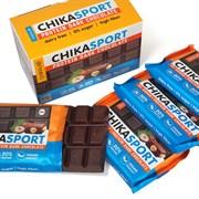 Тёмный шоколад без сахара  с фундуком Chikalab, 4 х 100г