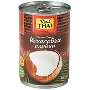 Кокосовые сливки 95% Coconut Cream Real Thai, 400 мл.